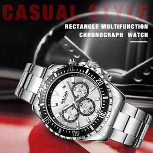 Image 5 - MEGIR Luxus Marke Business Quarz Männer Armbanduhr Voller Stahl Chronograph Wasserdicht Militär Uhr Männlich Relogio Masculino
