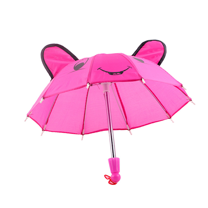 Lovely Beautiful Umbrella Accessories Kids Gifts Suitable for 18inch Girl Doll Outdoor Umbrella Wind Resistant Folding Rain Gear