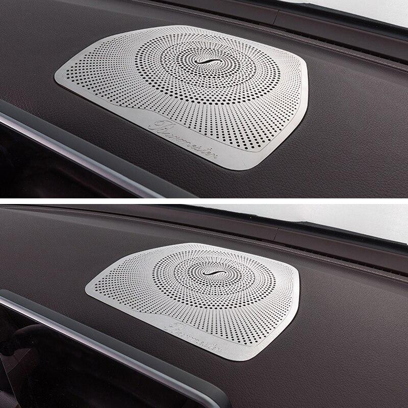 Dashboard Loudspeaker Cover Stickers Trim Accessories LHD For Mercedes Benz W205 GLC C Class C180 C200 Car styling Audio Speaker Car Stickers     -