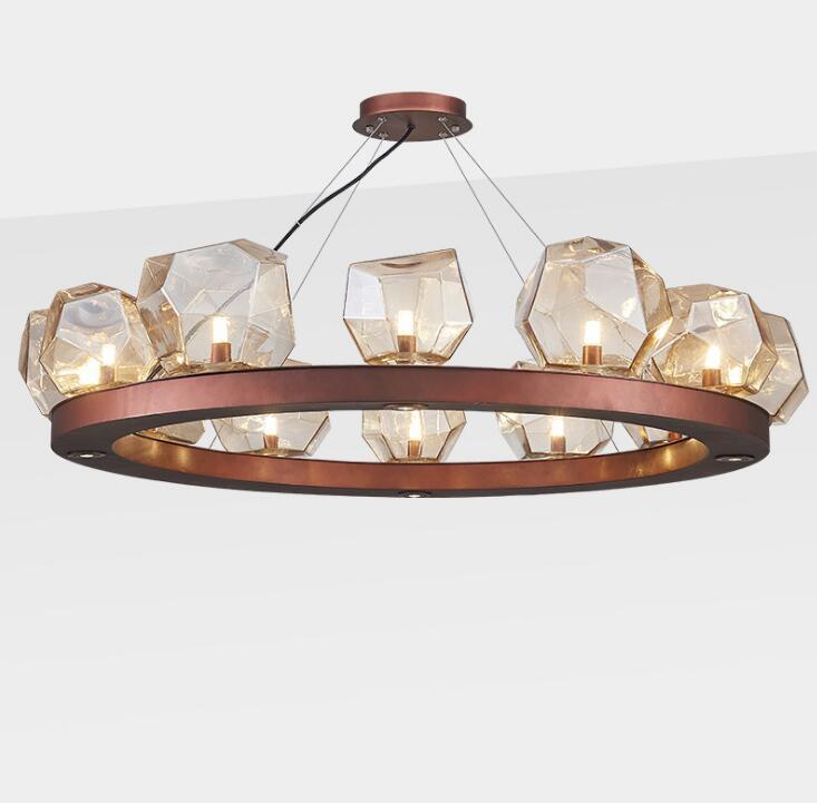 Işıklar ve Aydınlatma'ten Kolye ışıkları'de Postmodern taş cam avize restoran kaya tasarımcı modeli odası yatak odası basit modern yaratıcı avize title=