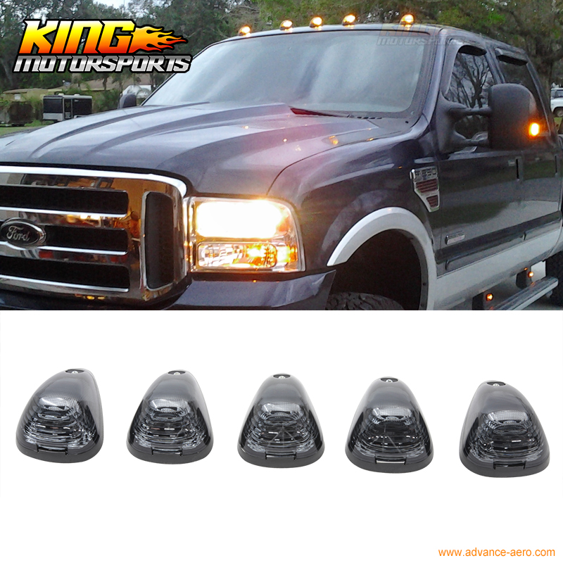 ФОТО Fit Ford/Dodge Truck Triangle Lens Top Led Cab Roof Lights Lamps 5Pcs Set Smoke USA Domestic Free Shipping Hot Selling
