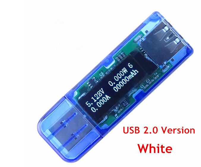 White Font DC 4 bit 0.91 Oled Display Screen Usb Meter Detector Voltmeter Ammeter Voltage Current Power Capacity Tester ...