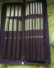 De doble punta un conjunto de 5 tejer agujas de ganchillo con gancho aguja Circular gancho costura herramienta para tejer 61155