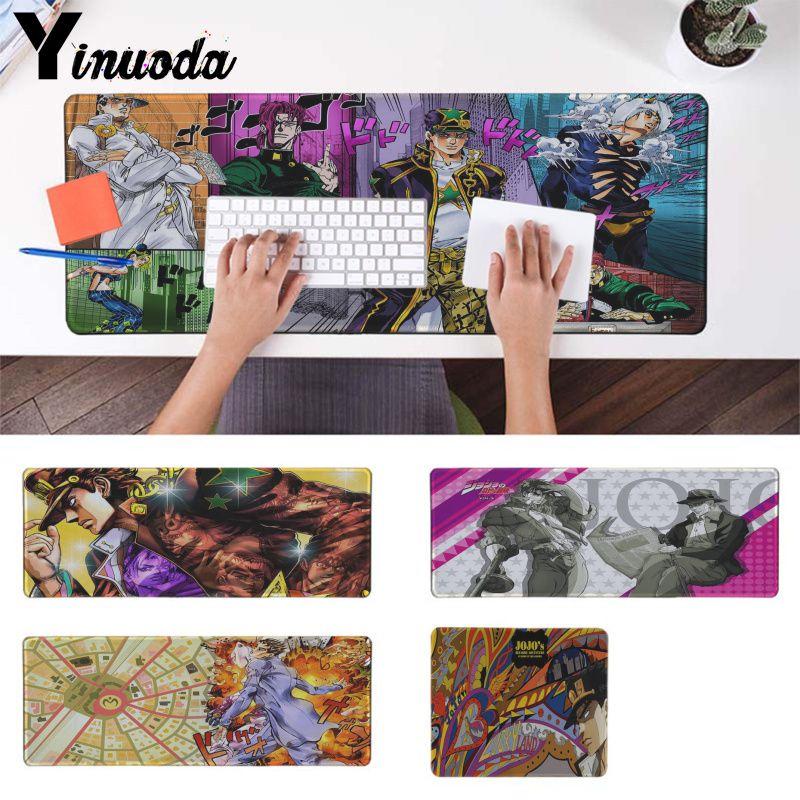 Yinuoda Your Own Mats jojo bizarre adventure Gaming Player desk laptop Rubber Mouse Mat Keyboard mat Smooth gaming mouse pad