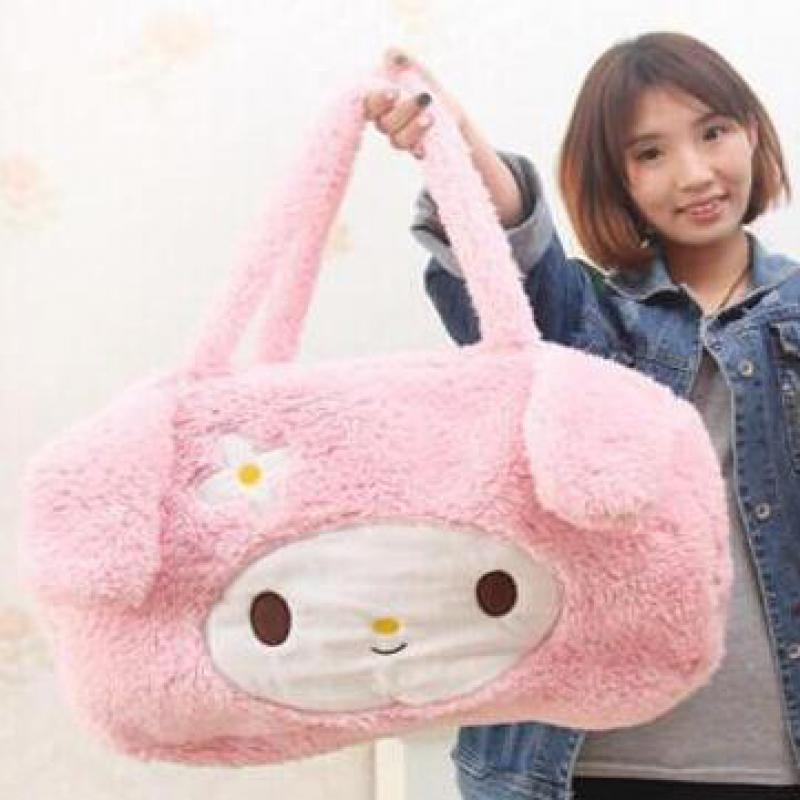 Kawaii 1pc 35cm Melody Kitty Leopard Home Outdoor Lunch Backpack Stuffed Baby Toy Creative Gift For Kids Gifts