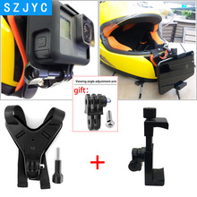 JYC Full Face Helmet Chin Mount Holder for GoPro Hero 7 SJCAM Motorcycle Stand Gopro 6/5 Camera Accessory