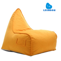 LEVMOON Free Shipping Beanbag Seat Chiar Covers Without Filling Big Bean Bag Chairs For Adults Largest