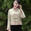 Черный Национальность Стиль Древних Китайских женщин Хлопок Белье Вышивает Пальто Куртки С Подслоем Ml XL XXL 3XL 081103