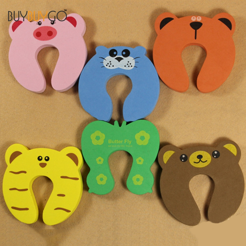 5pcs Cartoon Animal Gates & Doorways Stopper Guard Baby Safety Products Door Stopper Child Holder Lock Safety Finger Protector