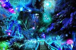 Magiczny las grzyb magiczne tle wysokiej jakości wydruku komputerowego dzieci dzieci tło do zdjęć w Tło od Elektronika użytkowa na