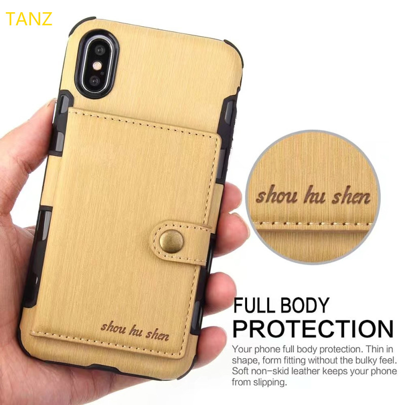 TANZ Wallet Case For Samsung S8 S9 plus note 8 case for iPhone 6 6S 7 8 Plus X 10 Cover Phone Bag Flip Phone Cases Phone Bags