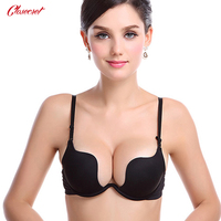Free Shipping Deep U Low Cut Push Up And Backless Invisible Convertible Bra For Full Wedding