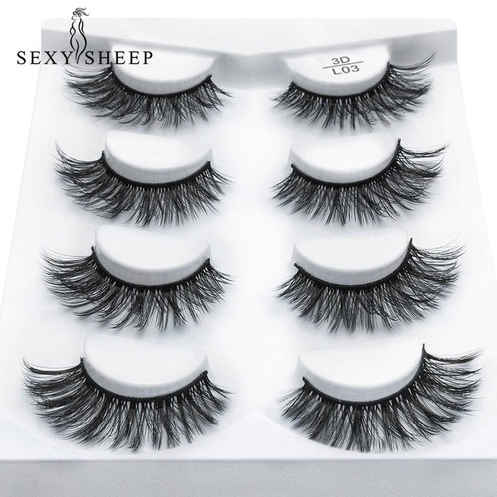 794b33b8590 SEXYSHEEP 2/4 pairs natural false eyelashes fake lashes long makeup 3d mink lashes  eyelash extension mink eyelashes for beauty
