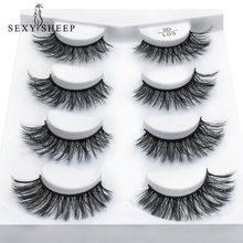 c8c3d9e8e62 SEXYSHEEP 2/4 pairs natural false eyelashes fake lashes long makeup 3d mink lashes  eyelash