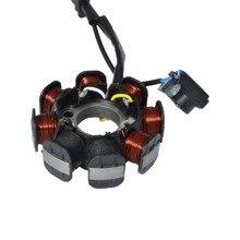 Generador de bobina de estátor Magneto para motocicleta, 4 cables y 8 polos de onda completa para GY6 50 GY6 50 139QMB, Scooter, ciclomotor ATV Dirt Bike Taotao