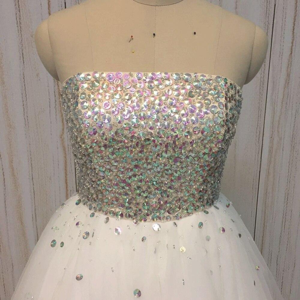 ff0d9fb9a Superkimjo 2017 Vestidos de fiesta corto blanco Vestidos de cóctel tulle  2018 Diamantes con piedras falsas sexy vestido de festa Curto en Vestidos  de fiesta ...
