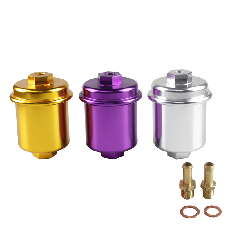 RASTP Universal JDM Aluminum High Flow Performance Fuel Filter Washable Filter OFI013 in Fuel Filters from Automobiles Motorcycles