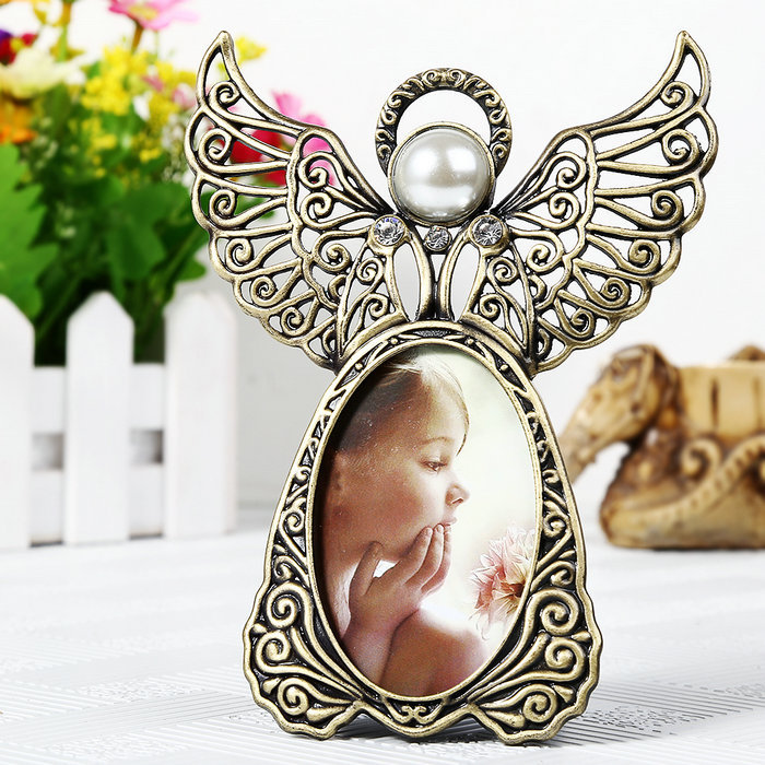 classic alloy photo fame angel desktop frame decoration picture frame home decorationchina mainland