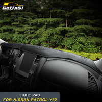 GELINSI Dashboard Cover dashboard light pad covers Interior Accessories For Nissan Patrol Y62 Auto Car
