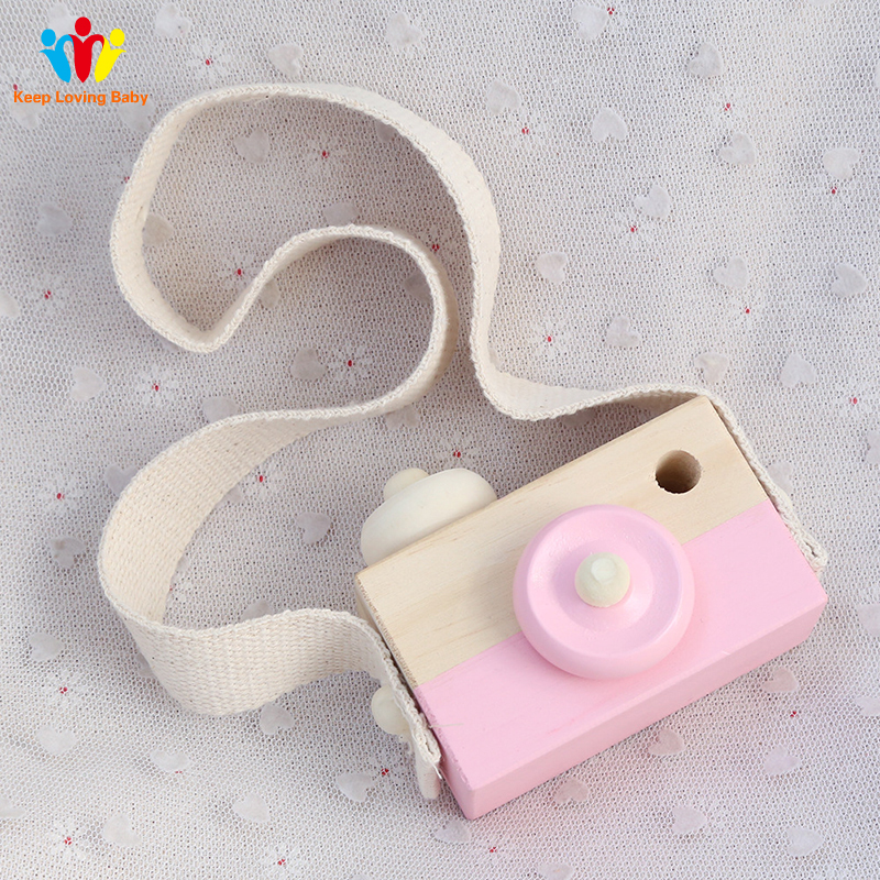 Baby Bedding Kids Room Decoration Handmade Multifunction Wood Camera Toys Safe Natural Toy For Baby Children bed room decor