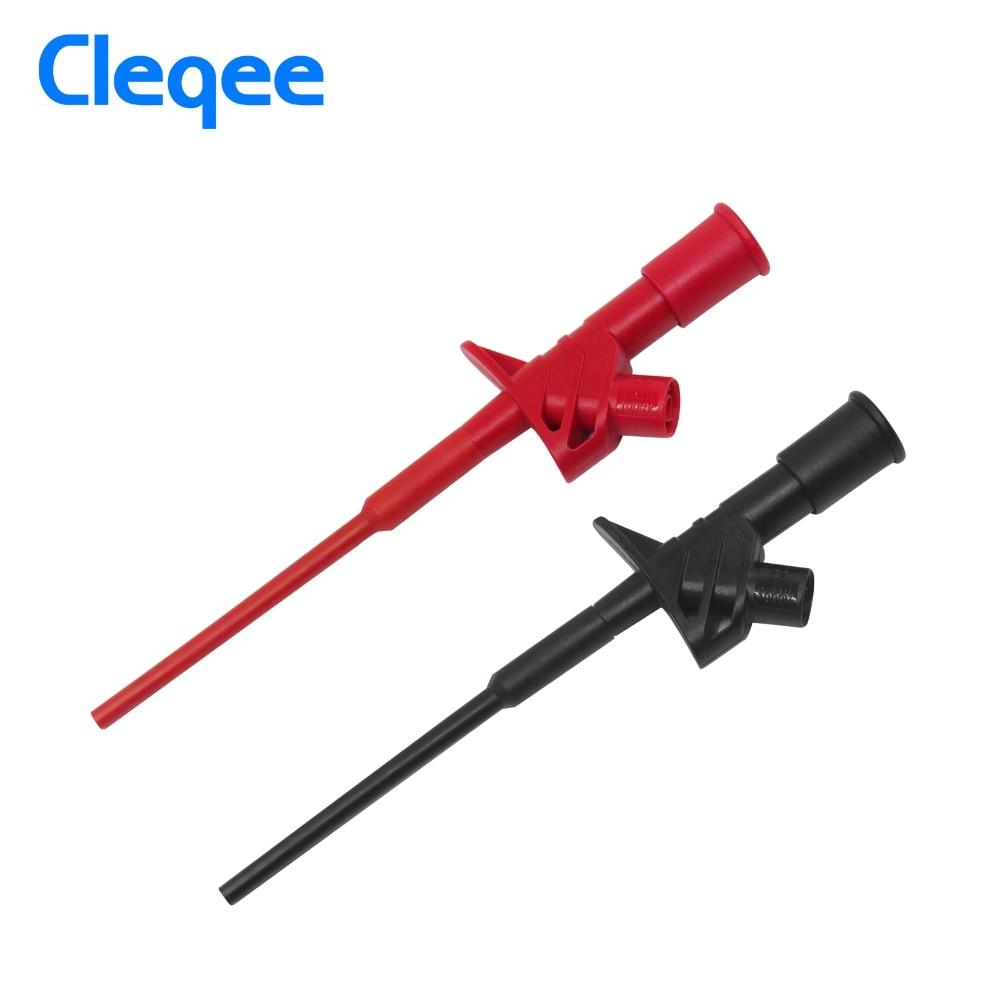 Cleqee P5004 2 шт. Профессиональный изолированный быстрый тест крюк клип высокое напряжение гибкий тест ing зонд