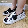 Venda quente crianças sapatos 2016 nova Primavera tênis olá kitty Moda Dos Desenhos Animados Bonito Mickey Meninos das Sapatas de Lona frete grátis