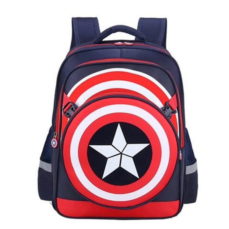 2d379c93a7f1 Boys Girls School Backpacks Captain America Cartoon Style Schoolbags for Kids  Children Backpacks Shoulder Bags Mochila Infantil -in School Bags from  Luggage ...