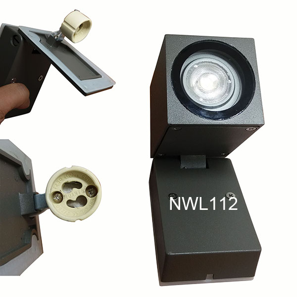 2pcs A110V to AC240V Outdoor Wall Lamp IP54 Adjustable Exterior Lighting GU10 Downward Wall Light 5W 2pcs ac100 to ac240v hotel room bedside lighting 5w minimal rotatable diffused study lamp led