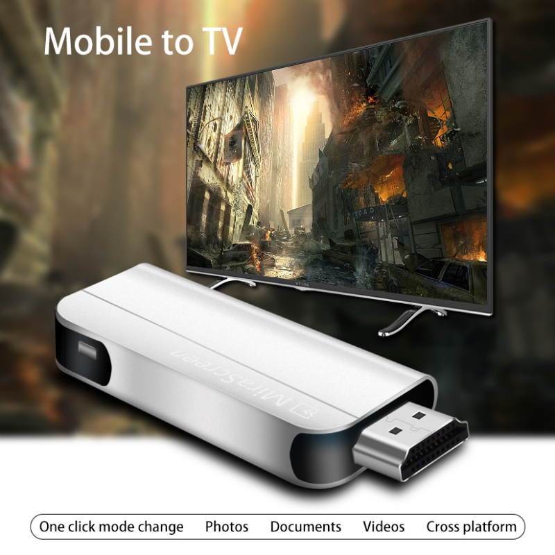 1080p Hd Wifi Tv Stick Wireless Hdmi Display Dongle Receiver Miracast Airplay Dlna For Smartphone Tablet Pc Computer 2019 Official