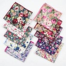Пейсли хлопок тканые носовые платки цветочный принт цветок нагрудный Платок для мужчин повседневные квадратные карманы платок полотенца