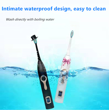 Intelligent Ultrasonic Electric Toothbrush LCD Display Magnetic Suspension Induction Female Male Couple Set