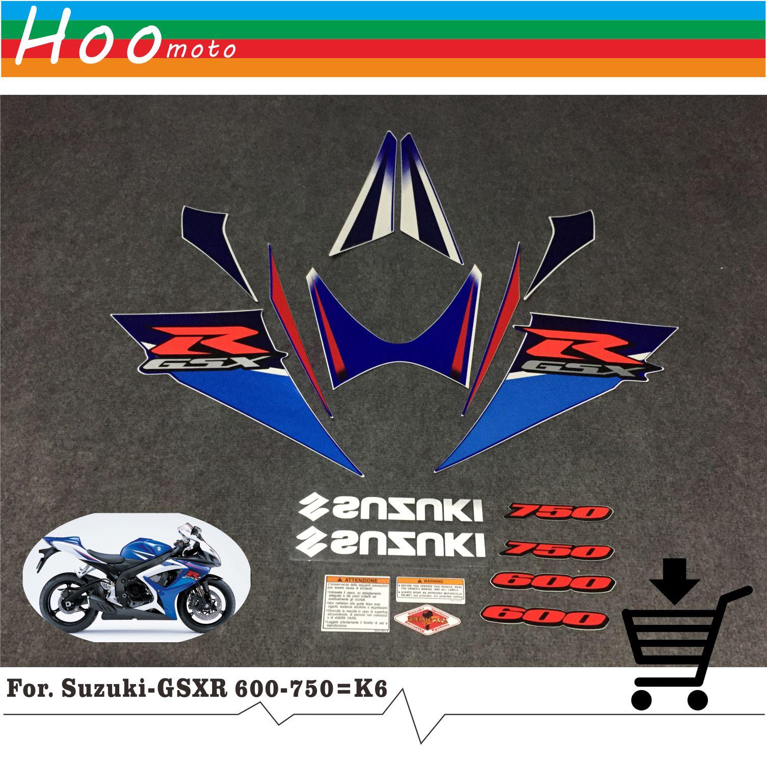 New For Suzuki GSXR GSX-R GSX R 600 K6 2007 MOTO High Quality Decals Sticker Motorcycle Car-styling Stickers More K6 K8 K11 K7