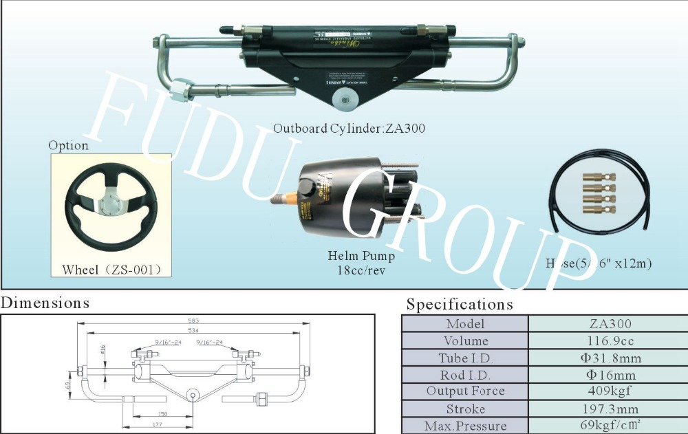 US $349 99 |Outboard Hydraulic steering system for engines till 150 HP-in  Marine Hardware from Automobiles & Motorcycles on Aliexpress com | Alibaba