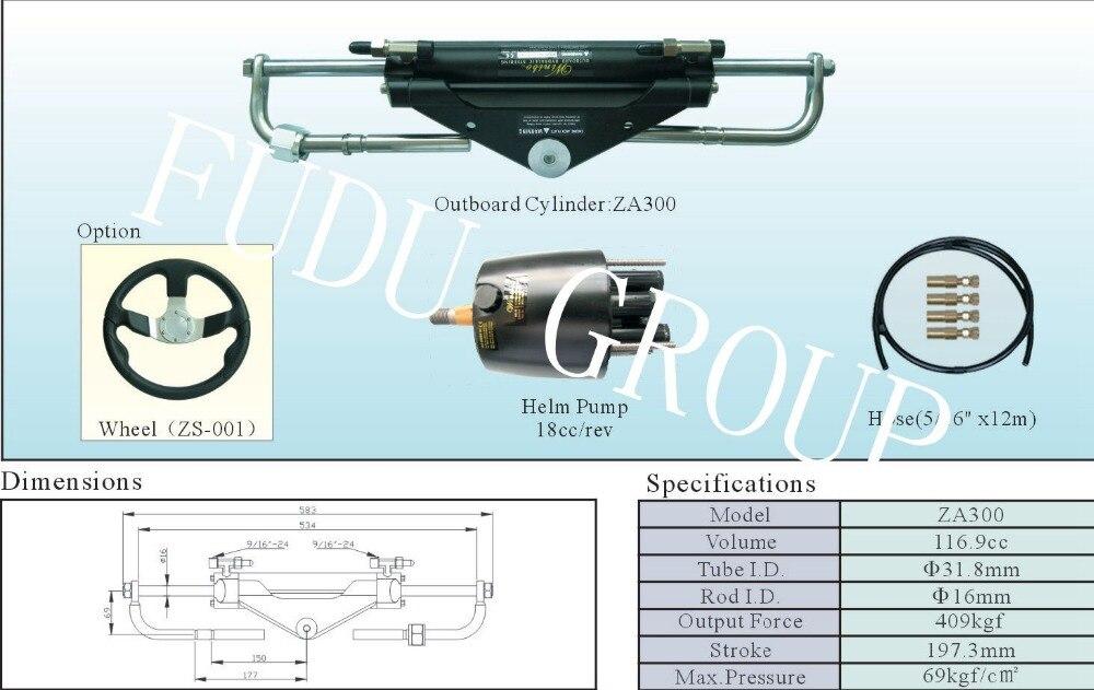 Sistema de direção hidráulico externo para motores até 150 cv
