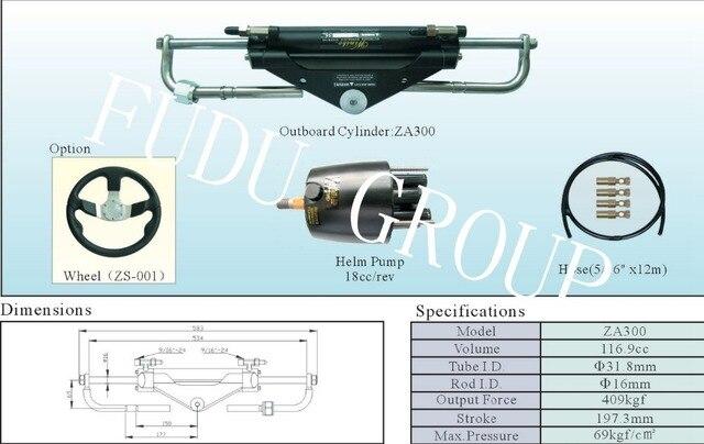 Sistema de dirección hidráulica para motores fueraborda hasta 150 HP