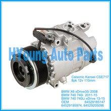 CSE717 compresor de aire acondicionado automático para BMW X6 xDrive 35i E71 740 740i 2008-2015 64529185147 64529195974 64529205096