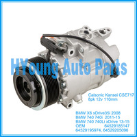 CSE717 auto air conditioning compressor for BMW X6 E71 740 740i xDrive 35i 2008 2015 64529185147 64529195974 64529205096