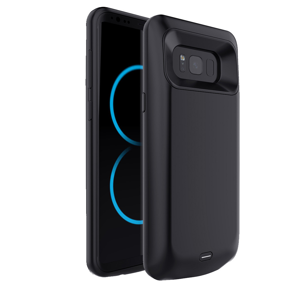 5000mAh Extended Battery Case Phone Charging Cover for Samsung Galaxy S8 5.8inch Rubber ABS Metal External protective Anti-dust xiaomi mi a2 corte ingles