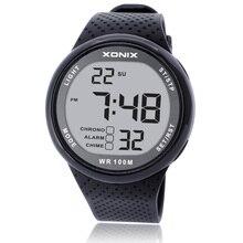 Marka lüks erkekler Unisex 100M Relogio Masculino LED dijital dalış Reloj Hombre spor saat Sumergible elbise kol saati