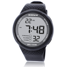 Reloj de pulsera Digital LED para Hombre, Reloj de pulsera deportivo para Hombre, marca de lujo, 100M