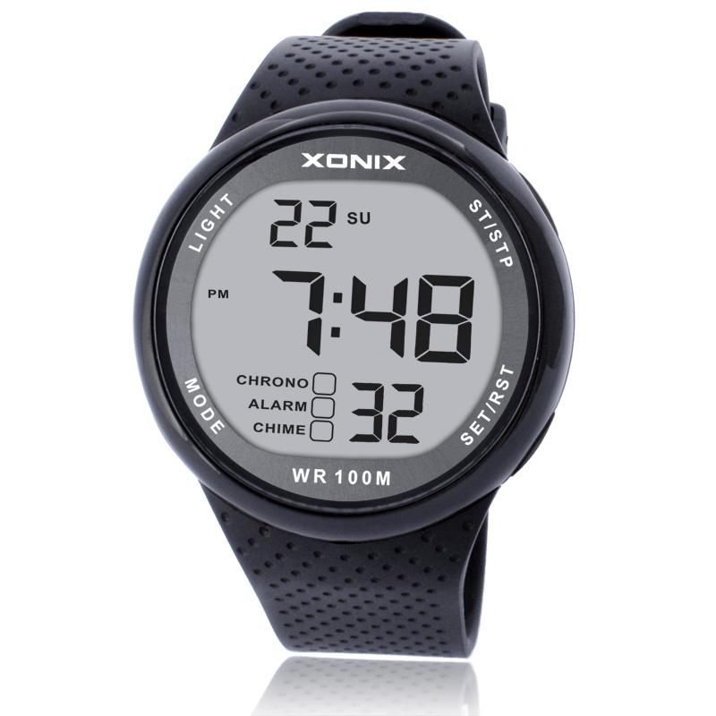 Prix pour XONIX Montres De Luxe Hommes Unisexe 100 M Relogio Masculino LED Numérique Plongée Reloj Hombre Sport Heures Sumergible Robe Montre-Bracelet
