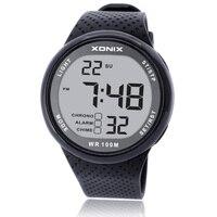 XONIX Saatler Lüks Erkekler Unisex 100 M Relogio Masculino LED Dijital Dalış Reloj Hombre Spor Saat Sumergible Elbise Bilek İzle