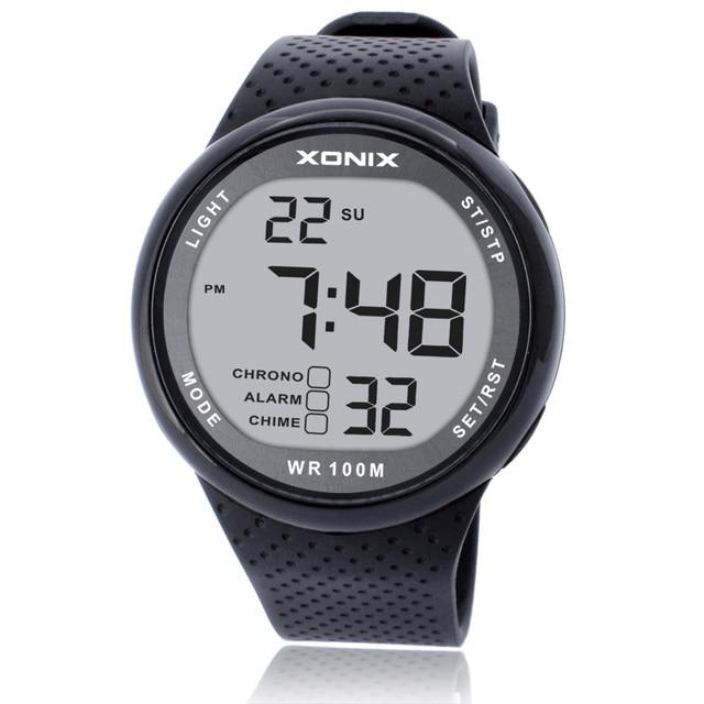XONIX Watches Luxury Men Unisex 100M Relogio Masculino LED Digital Diving Reloj Hombre Sport Hours Sumergible Dress Wrist Watch