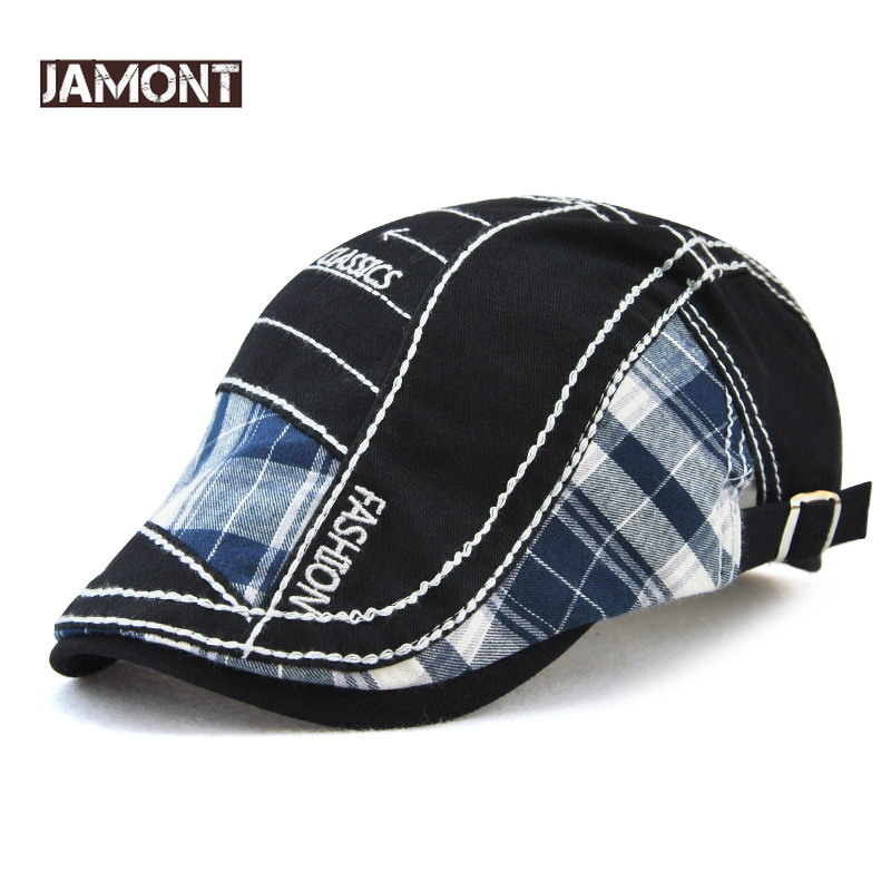 327567a4 JAMONT Vintage Hat Casual Beret for Men Outdoor Sports Flat Hat Women's  Beret Summer Autumn Embroidery
