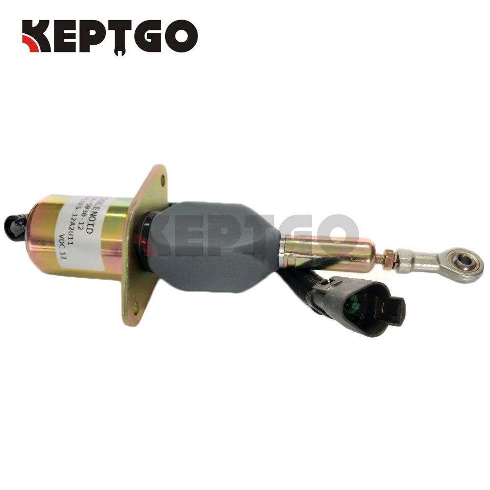 SA-5030-12 1752ES-12A2U11 12V Stop Solenoid For Komatsu pc300 6 12v fuel stop solenoid valve 3923680 sa 4818 12 for komatsu excavator