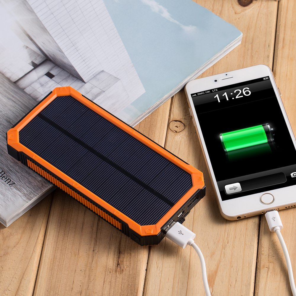Carregadores de celular que utilizam energia solar