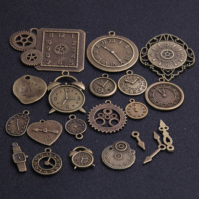 Vintage Metal Zinc Alloy Mixed Pendant Charms Steampunk DIY Jewelry Making 10pcs