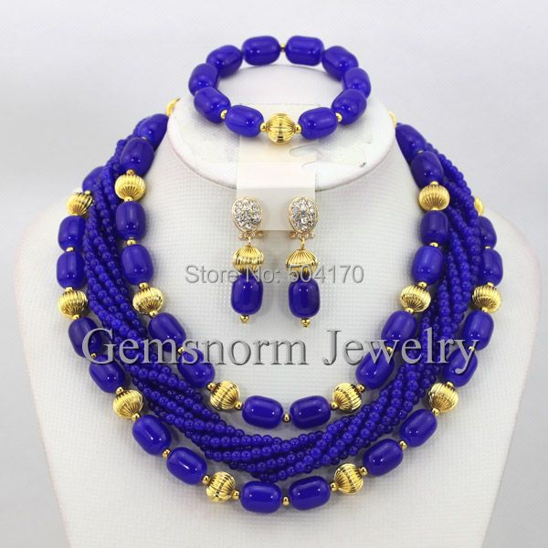 16 Color Indian Bridal Jewelry Set Nigerian Wedding Beads Costume African Jewellery Set Choker Necklace Set  Free Shipping GS607