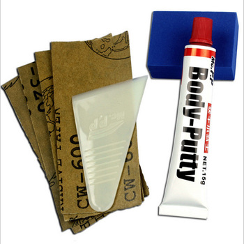 LumiParty 15g cuerpo de coche masilla relleno de arañazos pluma de pintura Asistente de reparación suave Herramienta 1 Uds Universal para coche r10