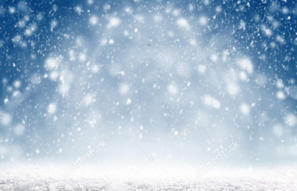 Shiny Snow Blizzard background polyester or Vinyl cloth High quality Computer print wall backdrops